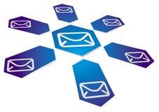 Fundo de uma comunicação com sinal do email Imagens de Stock Royalty Free