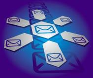 Fundo de uma comunicação com sinal do email Fotografia de Stock Royalty Free
