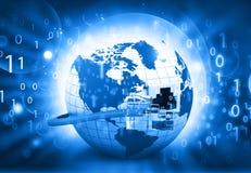Fundo de uma comunicação do Internet Foto de Stock Royalty Free