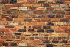Fundo de uma parede de tijolo vermelho Imagem de Stock