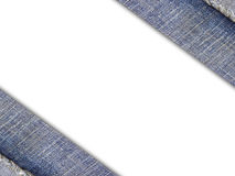 Fundo de uma tela das calças de brim no branco fotos de stock royalty free