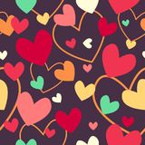 Fundo de Valentine Day Wallpaper Seamless Pattern Foto de Stock Royalty Free