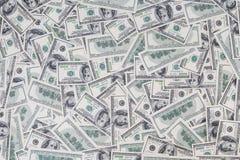 Fundo de velho denominado cem notas de dólar Fotografia de Stock Royalty Free