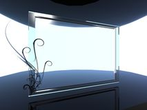 fundo de vidro Foto de Stock Royalty Free