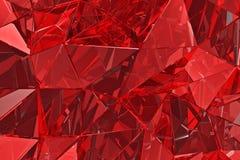 Fundo de vidro abstrato 3d rendem Superfície poligonal imagem de stock