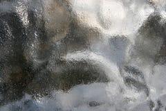 Fundo de vidro cinzento obscuro enlameado da textura Fotos de Stock Royalty Free