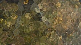 Fundo de vidro ondulado marrom e amarelo colorido da textura fotos de stock royalty free