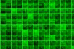 Fundo de vidro pequeno da cor verde do mosaico da textura foto de stock