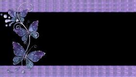 Fundo de vidro roxo das borboletas Foto de Stock Royalty Free
