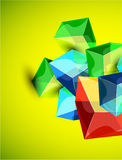 Fundo de vidro transparente brilhante do cubo do vetor Imagens de Stock Royalty Free