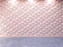 Fundo decorativo abstrato da parede 3d, rendição 3d Fotos de Stock