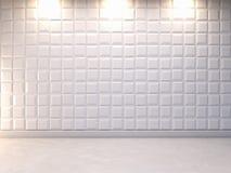 Fundo decorativo abstrato da parede 3d, rendição 3d Fotos de Stock Royalty Free