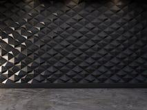 Fundo decorativo abstrato da parede 3d, rendição 3d Imagens de Stock