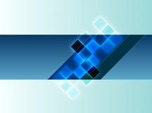 Fundo decorativo azul Imagens de Stock Royalty Free