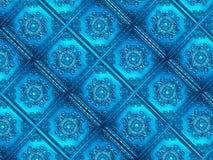 Fundo decorativo azul vívido da textura do teste padrão Fotografia de Stock Royalty Free