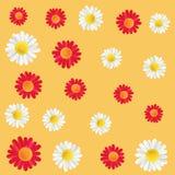 Fundo decorativo colorido das flores do projeto Abstraia o fundo textured grade Teste padrão da arte do vetor VERMELHO E BRANCO Fotos de Stock Royalty Free