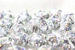Fundo decorativo com estrelas de prata em um fundo branco Imagem de Stock Royalty Free