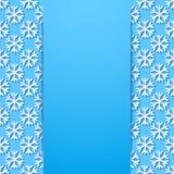 Fundo decorativo com flocos de neve ilustração stock