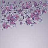 Fundo decorativo com paisley Imagem de Stock Royalty Free