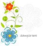 Fundo decorativo da flor de Beautifull Fotos de Stock