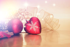 Fundo decorativo das decorações do Natal Foto de Stock Royalty Free