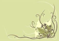 Fundo decorativo das flores ilustração royalty free