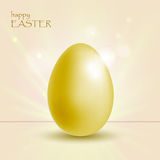 Fundo do feriado com o ovo do ouro de easter ilustração do vetor