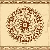 Fundo decorativo do cartão do círculo Fotos de Stock Royalty Free