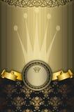 Fundo decorativo do ouro com quadro ilustração do vetor