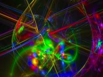 Fundo decorativo do poder do disco do estilo do teste padrão da ciência cybernetic da galáxia digital abstrata do fractal, teste  ilustração stock