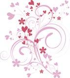 Fundo decorativo do Valentim ilustração do vetor