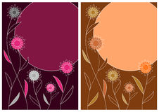 Fundo decorativo do vetor com flores estilizados Fotos de Stock