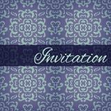 Cartão decorativo do convite do damasco Imagens de Stock Royalty Free