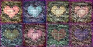 Fundo decorativo dos corações do grunge ilustração do vetor