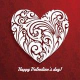 Fundo decorativo festivo do teste padrão com símbolo decorativo do coração Imagens de Stock Royalty Free