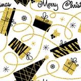Fundo decorativo sem emenda do Natal ilustração stock