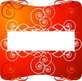 Fundo decorativo vermelho Fotos de Stock