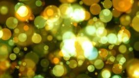 Fundo Defocused das luzes amarelas Fotos de Stock Royalty Free