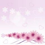 Fundo delicado com corações e cores do lilac Foto de Stock Royalty Free