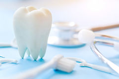 Fundo dental da higiene fotografia de stock