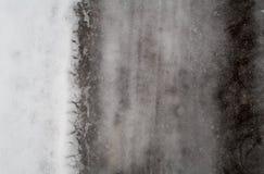 Fundo derretido obscuridade da neve do inverno Fotos de Stock Royalty Free