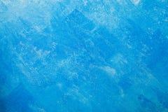 Fundo desencapado da parede do emplastro, papel de parede azul Foto de Stock