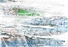 Fundo desenhado à mão de mármore azul verde da aquarela foto de stock
