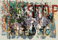 Fundo desvanecido do grunge Fotografia de Stock