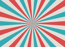 Fundo desvanecido retro da luz solar Fundo vermelho, azul, bege pálido da explosão de cor Ilustração do vetor da fantasia ilustração do vetor