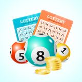 Fundo detalhado realístico do cartão do conceito do loto 3d Vetor Fotografia de Stock Royalty Free