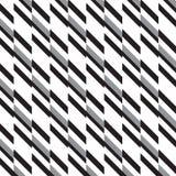 Fundo diagonal branco e de prata preto do teste padrão do retângulo Fotografia de Stock Royalty Free