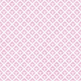 Fundo diagonal do rosa e o branco dos quadrados das telhas do teste padrão da repetição Imagens de Stock