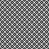 Fundo diagonal preto e branco da repetição do teste padrão das telhas dos quadrados Fotos de Stock Royalty Free