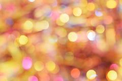 Fundo diferente do bokeh das cores Textura do fundo do Natal Fotos de Stock Royalty Free